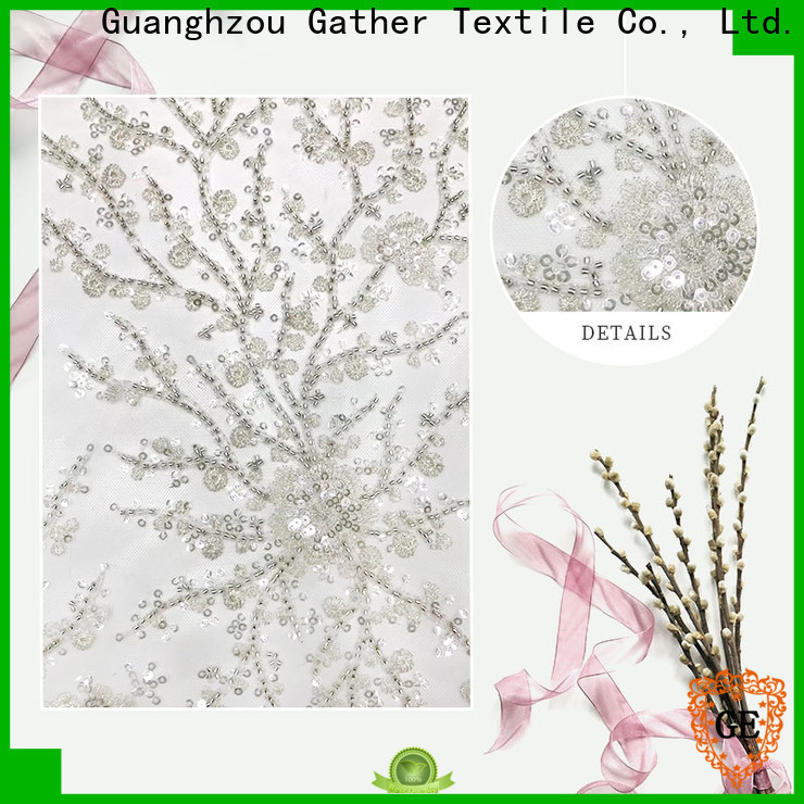 GT Top sequin embroidery fabric factory on sale