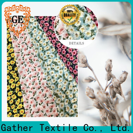 GT Wholesale custom printed fabric manufacturers factory bulk production