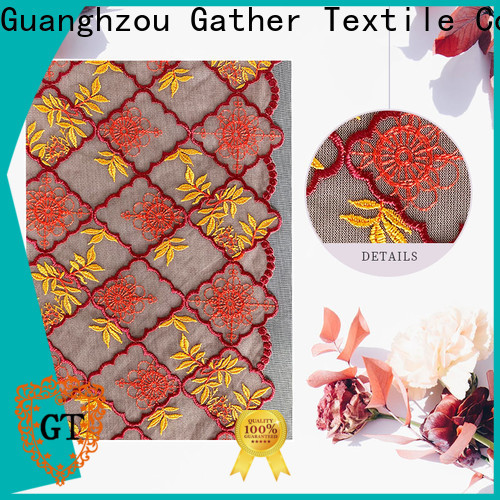 GT lace fabric by the bolt for business for promotion