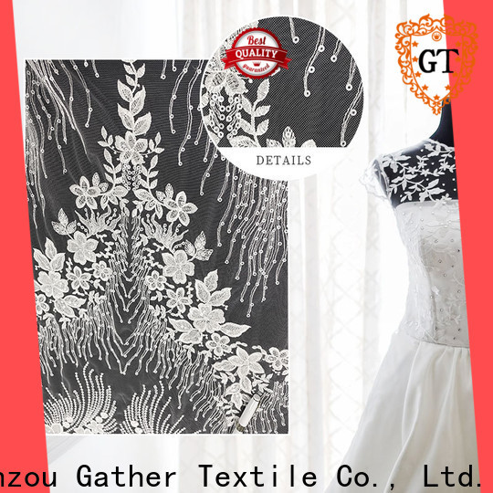 Best designer dress fabrics factory bulk production