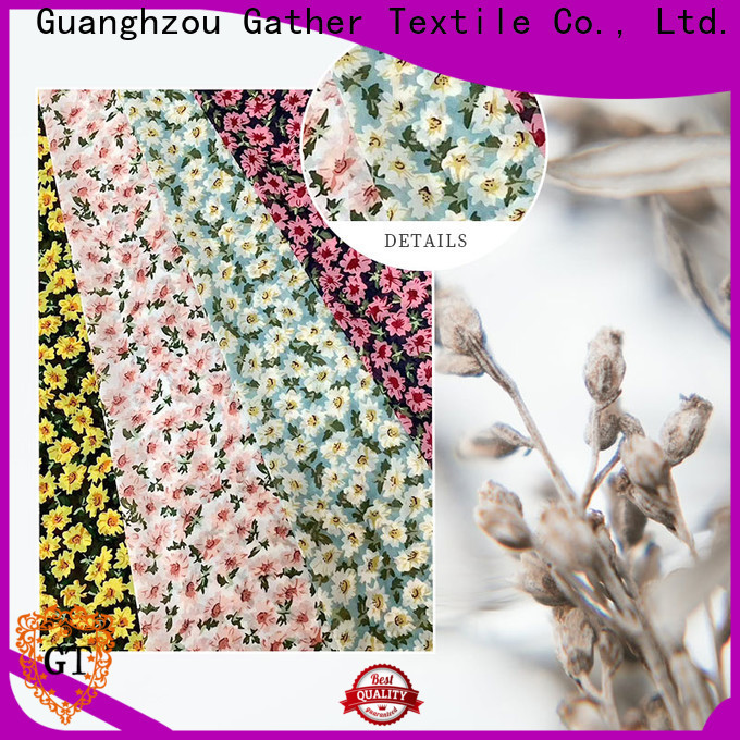 GT custom printed muslin fabric factory on sale
