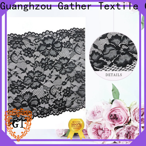 Top embroidered lace fabric Supply for promotion