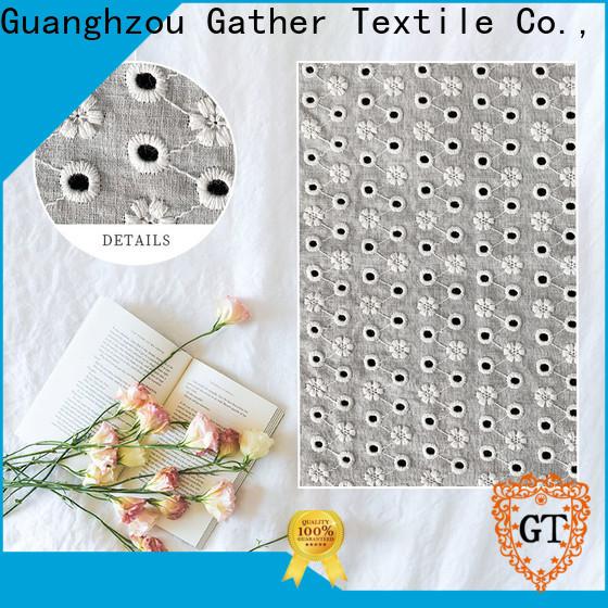 GT blue cotton lace fabric manufacturers for sale