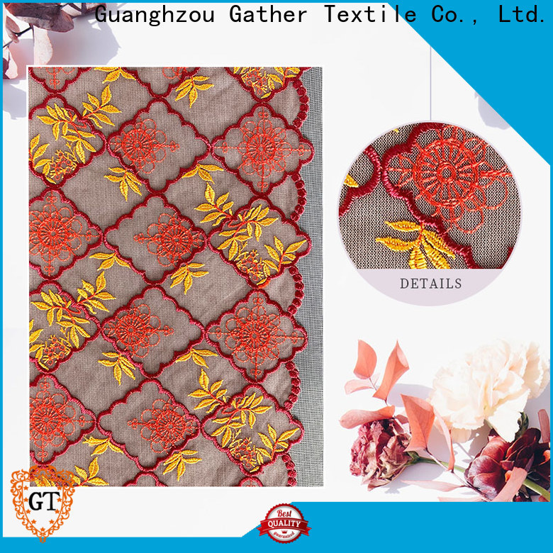 Latest applique lace fabric Suppliers for promotion