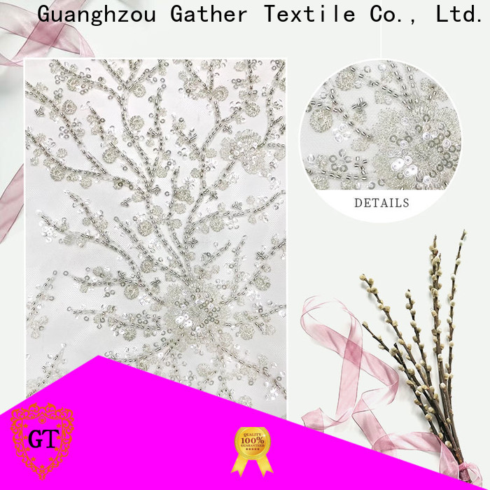 Wholesale sequin embroidery fabric manufacturers for promotion