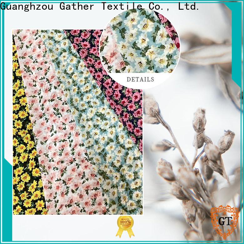 GT New custom printed fabric cheap factory bulk buy