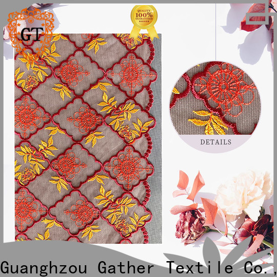 GT all over garment embroidery manufacturers for promotion
