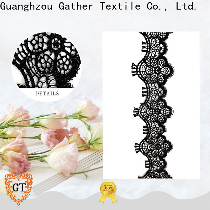 Best black lace for dressmaking company for sale
