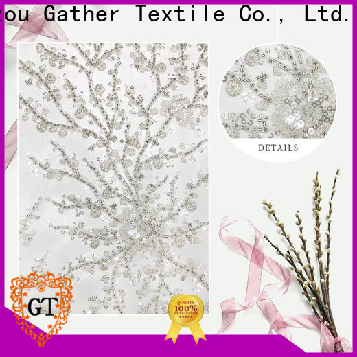GT sequin embroidery fabric for business for promotion