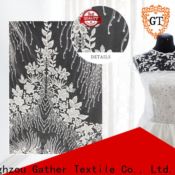 GT Custom red bridal lace fabric manufacturers for promotion