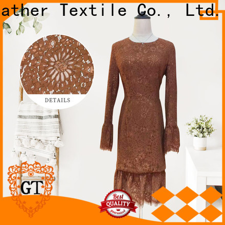 GT Latest white lace fabric factory bulk production