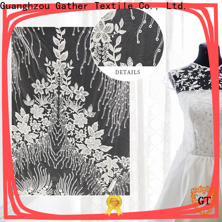 GT Latest cheap bridal lace fabric company on sale
