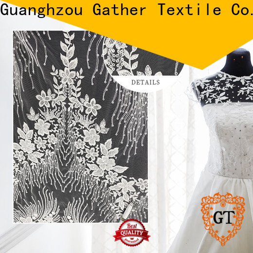 GT Custom grey lace fabric manufacturers bulk production