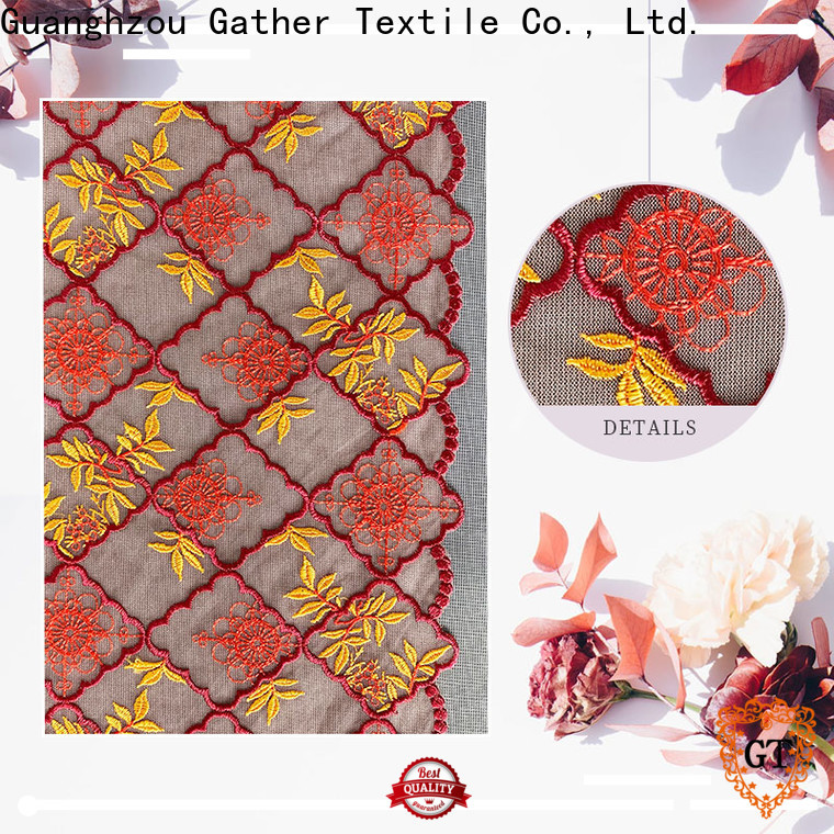 GT Latest mauve lace fabric factory for promotion