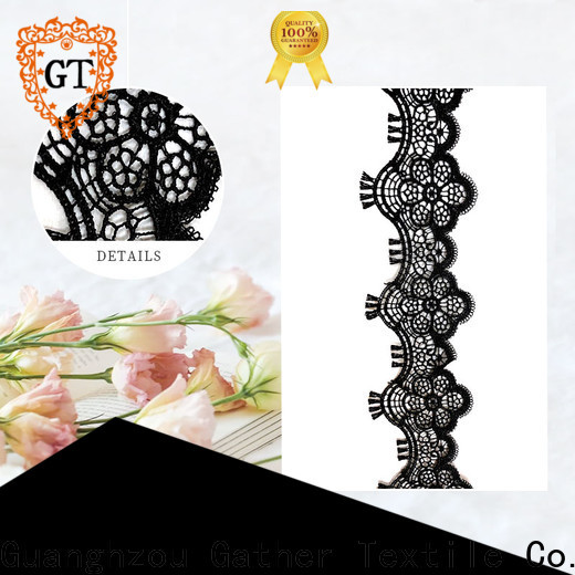 GT Wholesale double edged scalloped lace fabric company for promotion