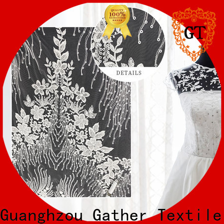 GT white lace material for dresses factory for promotion