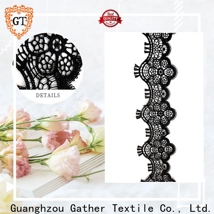 High-quality black and white lace fabric factory bulk buy