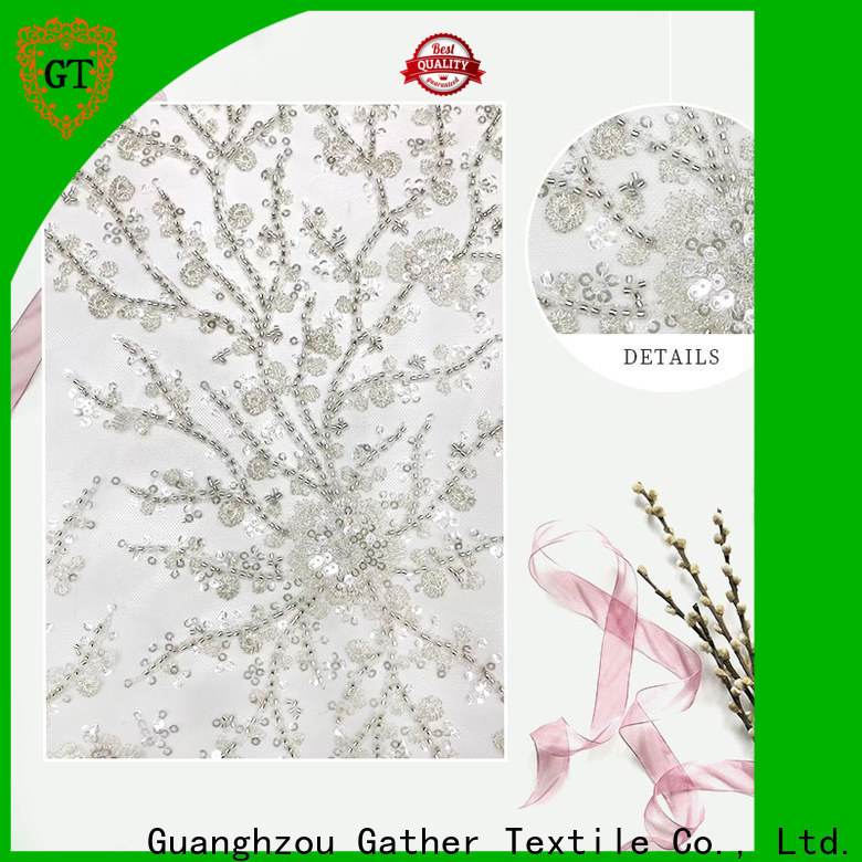 GT Latest embroidery fabric company bulk buy