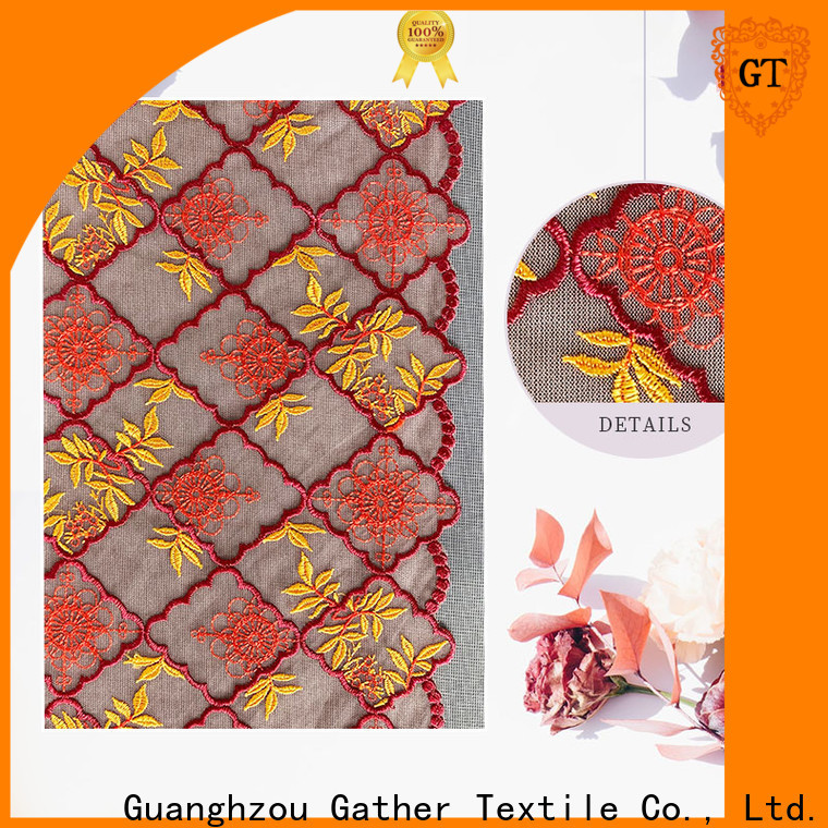 Custom floral lace material Suppliers on sale
