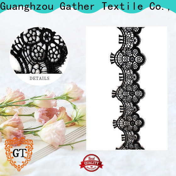 GT Latest embroidered floral lace fabric factory bulk production