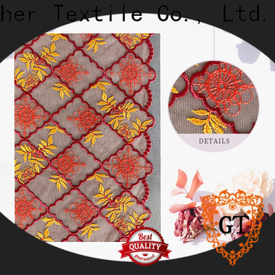 GT Custom eyelet lace fabric Suppliers bulk production