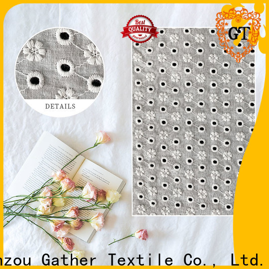 Wholesale embroidered mesh lace fabric company bulk production