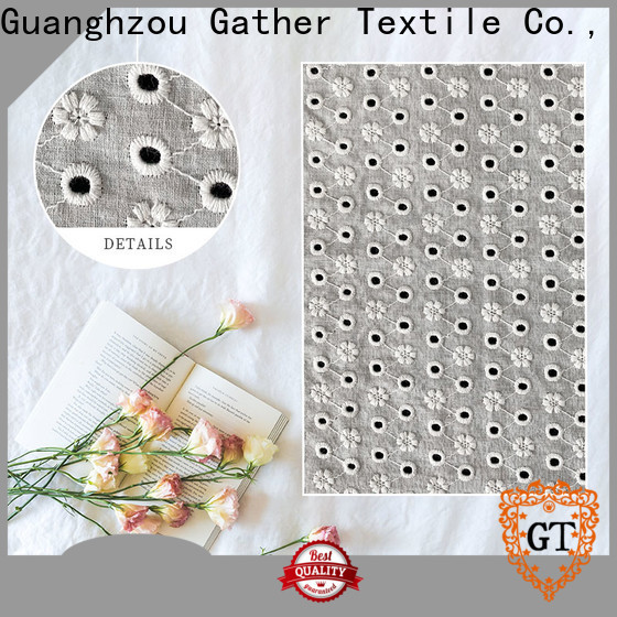 Latest double edged scalloped lace fabric company for promotion