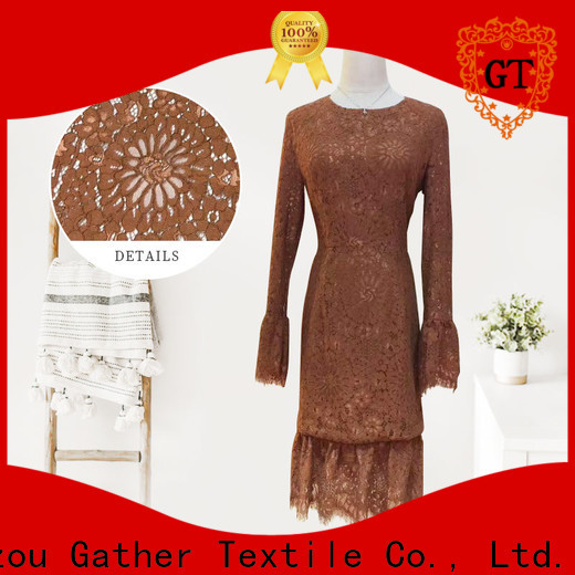 Top white lace fabric factory for promotion