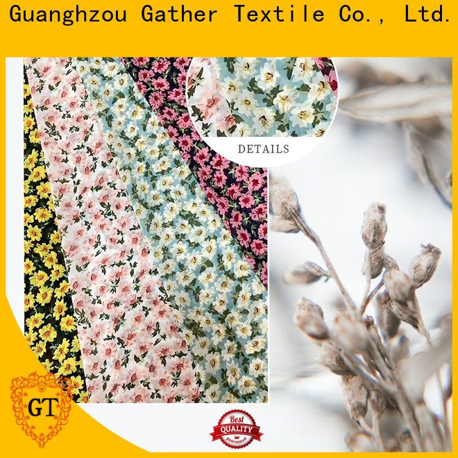 GT Best printed chiffon fabric for business bulk production