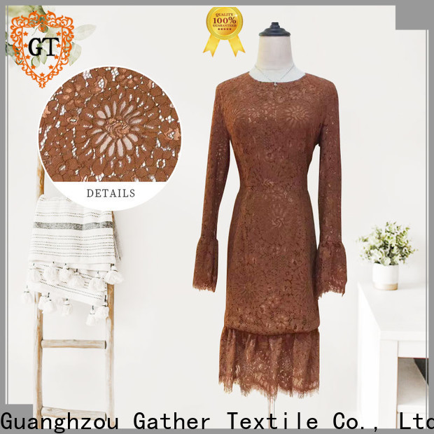 GT all over lace fabric company bulk production