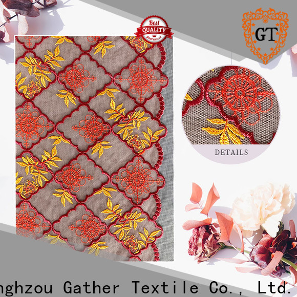 GT white cotton lace fabric manufacturers bulk buy