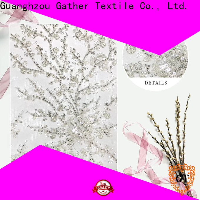 GT sequin embroidery fabric Supply bulk production