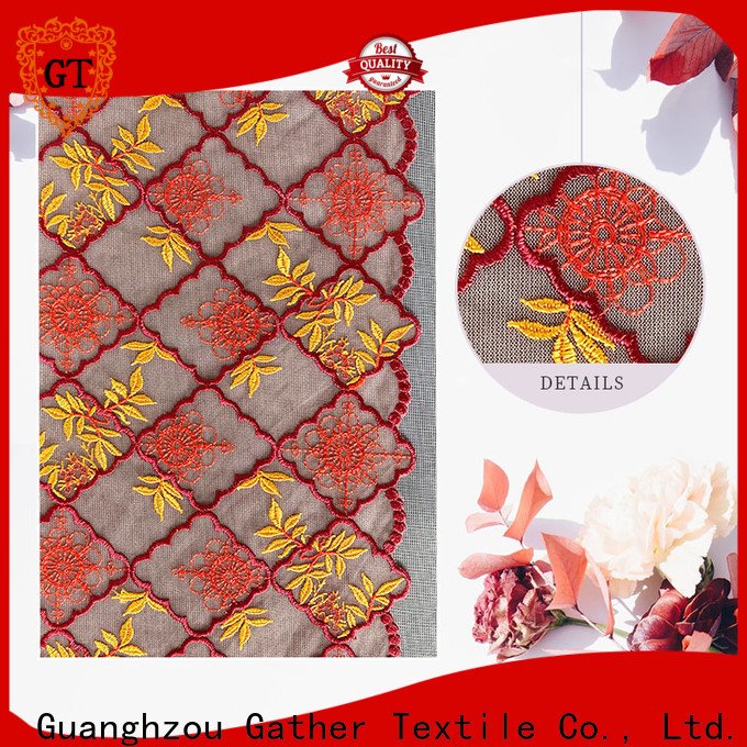 GT Best blue cotton lace fabric company for sale