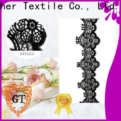 Custom dark purple lace fabric Supply on sale
