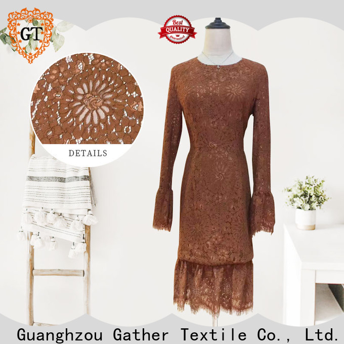 GT embroidered lace fabric Suppliers bulk production