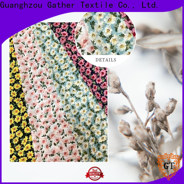 Custom printed polyester chiffon fabric for business for sale