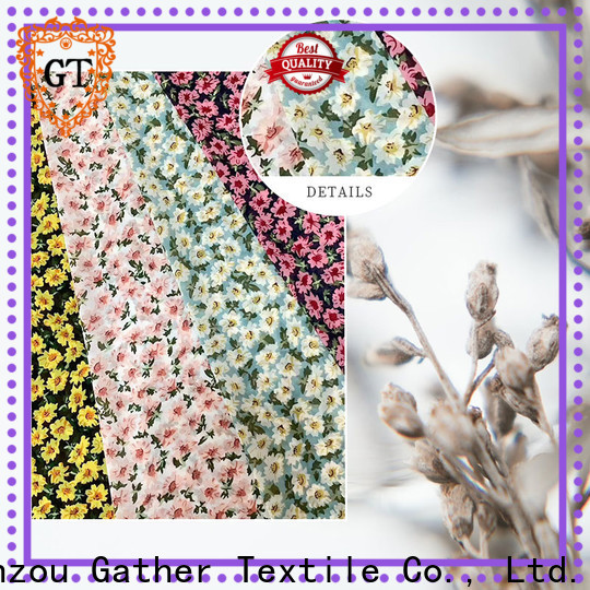 GT New printed clothing fabric Suppliers bulk production