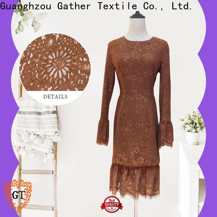 Custom fabric lace trim Supply bulk buy