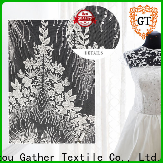 Top embroidered fabric for wedding dress for business bulk buy