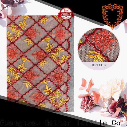 GT Custom scalloped edge lace fabric factory bulk buy