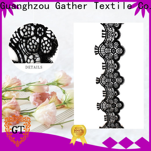 Custom scalloped lace fabric Suppliers for sale
