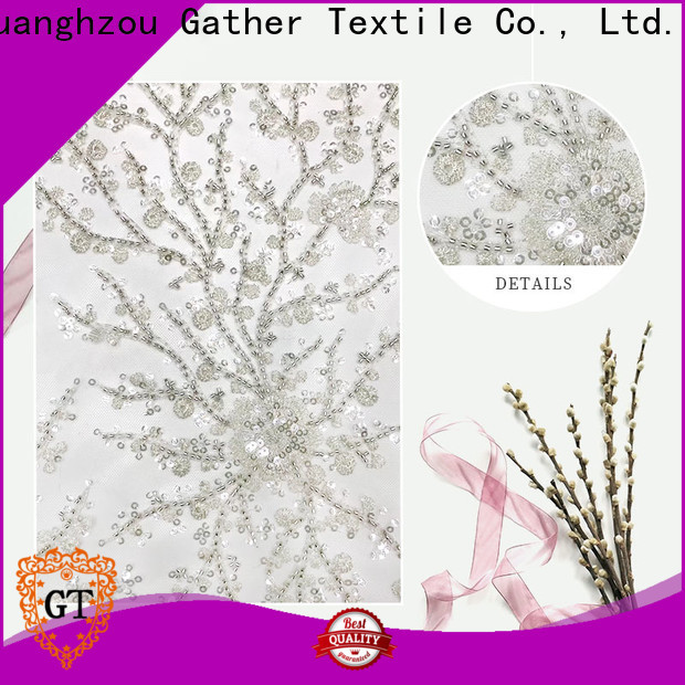 Latest embroidery fabric wholesale manufacturers for promotion