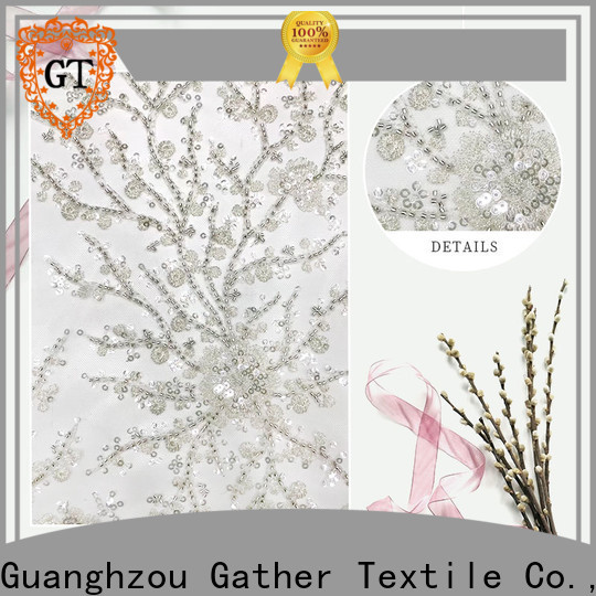 High-quality embroidery fabric manufacturers for sale