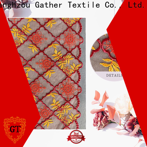 GT beaded lace fabric online Supply for promotion