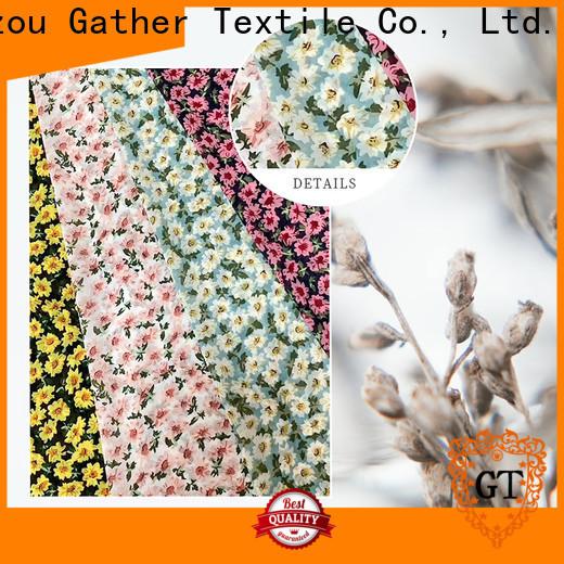 GT printed muslin fabric factory bulk production
