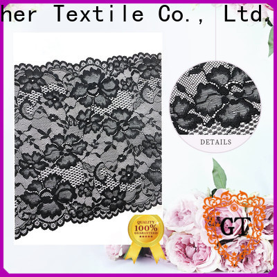 Custom all over stretch lace fabric Suppliers bulk production