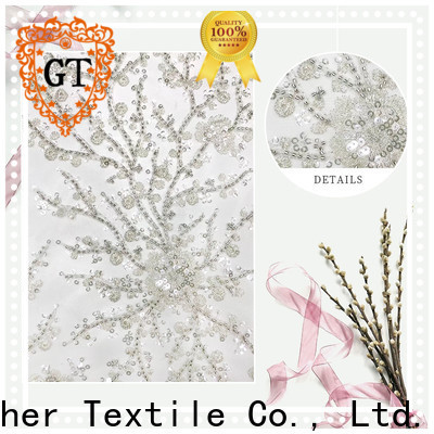 GT gold sequin embroidery fabric manufacturers on sale