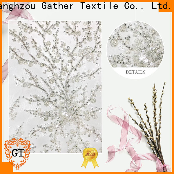GT Custom sequin embroidery fabric for business on sale