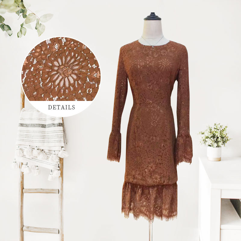 All Over Lace Fabric Dress & Raschel Lace Fabric