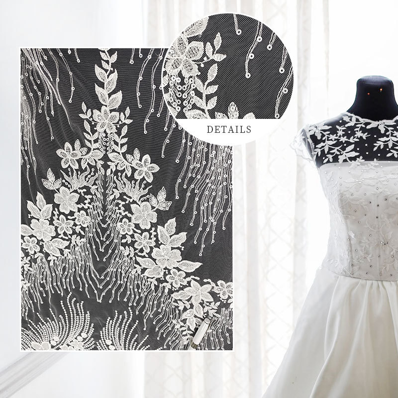 Custom Wedding Dress Bridal Lace Fabric Wedding Material